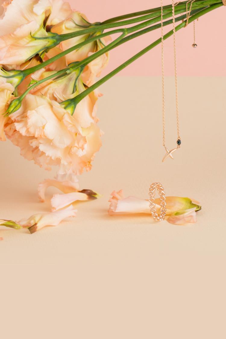 项链和戒指的完美搭配