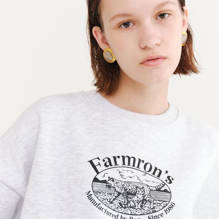 신세계인터넷면세점-론론--FARMRON`S SWEATSHIRT WHITE MELANGE