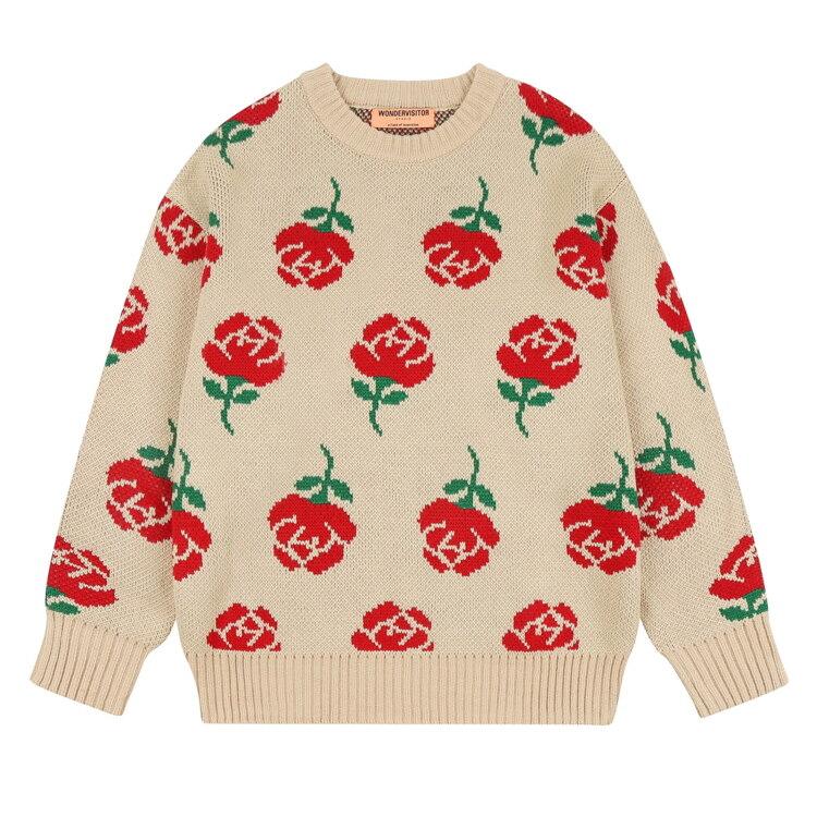신세계인터넷면세점-원더비지터--Rose pattern Knit [Beige]