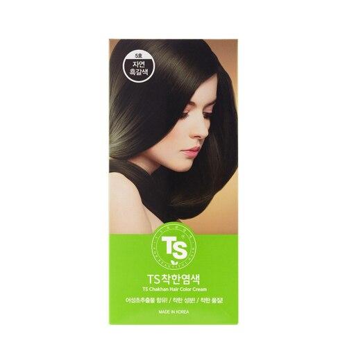 韩际新世界网上免税店-TS SHAMPOO--5号自然黑褐色 / 染发剂 1EA*120g