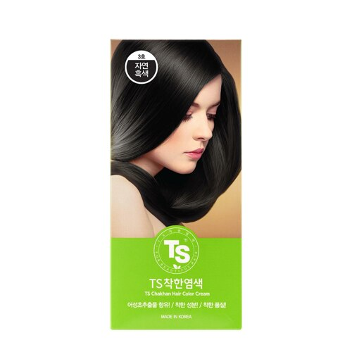 韩际新世界网上免税店-TS SHAMPOO--3号自然黑色 / 染发剂 1EA*120g