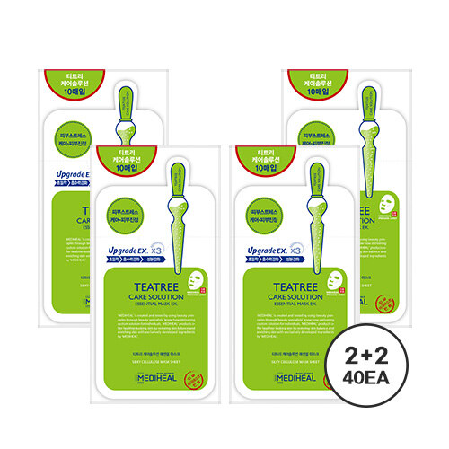 韩际新世界网上免税店-美迪惠尔--TEA TREE CARE SOLUTION ESSENTIAL MASK  面膜 40片