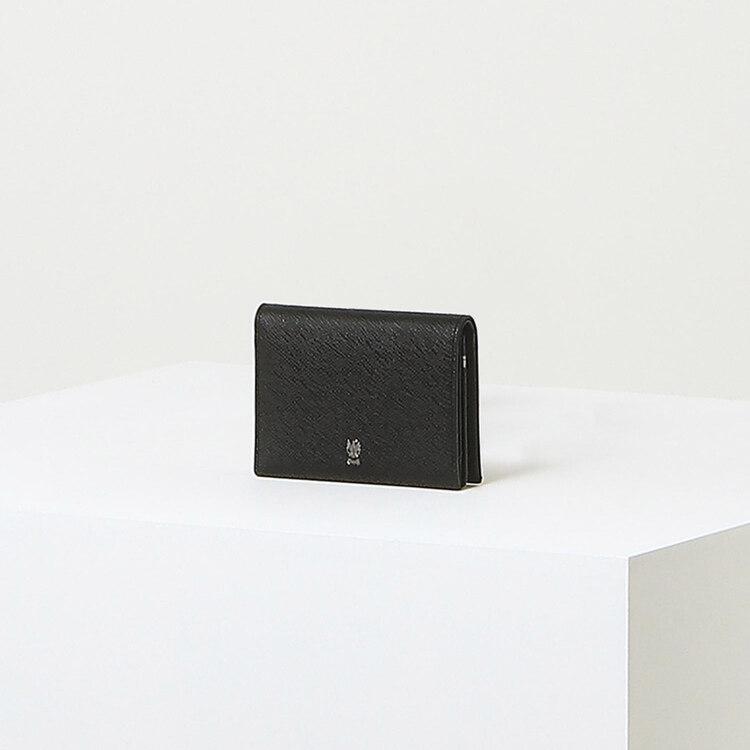 신세계인터넷면세점-닥스-지갑-DBHO1F140BK 블랙 로고장식 소가죽 명함지갑