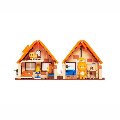 신세계인터넷면세점-카카오프렌즈-CharacterGoods-라이언과 춘식이의 집 브릭 피규어