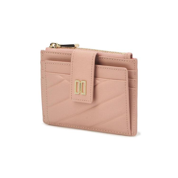 신세계인터넷면세점-닥스-지갑-DCHO1F468P1 핑크 칼라일 패턴 골드 DD 카드지갑