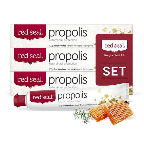 韩际新世界网上免税店-RED SEAL-FOOD ETC-Red Seal Propolis 牙膏 3支组合(牙龈健康,口腔卫生,清爽感)