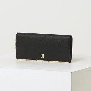신세계인터넷면세점-닥스-지갑-DCWA1F802BK 블랙 비즈장식 소가죽 장지갑
