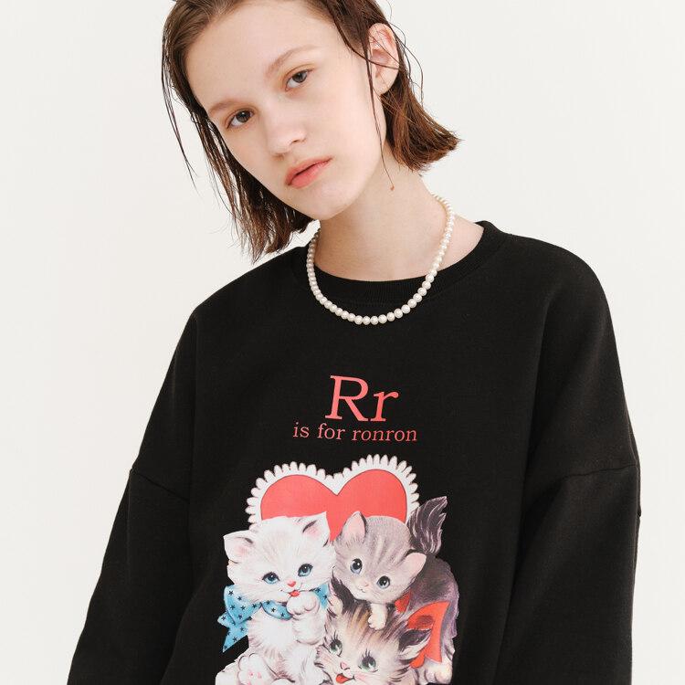 신세계인터넷면세점-론론--RR IS FOR SWEATSHIRT BLACK