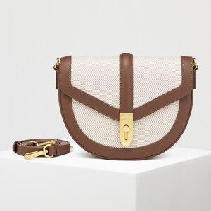 신세계인터넷면세점-칼린-여성 가방-문 캔버스 카멜