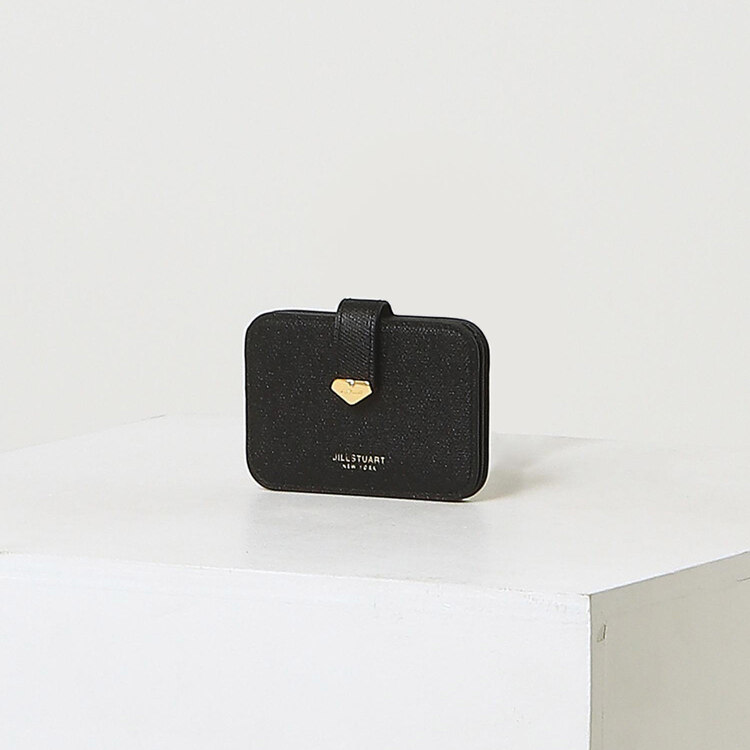 신세계인터넷면세점-질 스튜어트(패션)-지갑-JAHO1F650BK 블랙 로고장식 소가죽 카드지갑