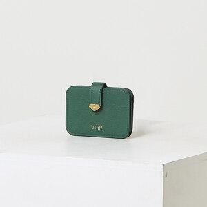 신세계인터넷면세점-질 스튜어트(패션)-지갑-JAHO1F651E2 그린 로고장식 소가죽 카드지갑