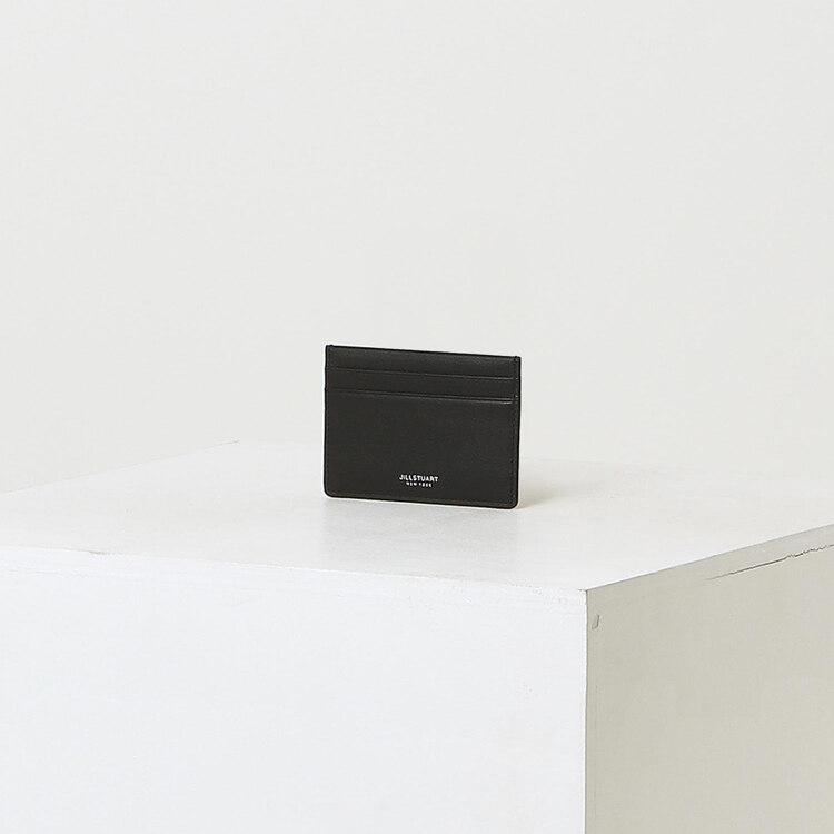 신세계인터넷면세점-질 스튜어트(패션)-지갑-JUHO1F147BK 블랙 가죽 로고 2단 카드지갑