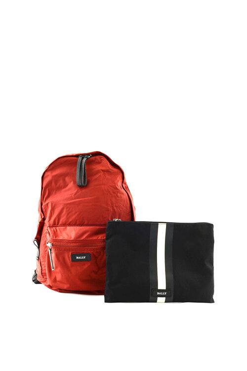 韩际新世界网上免税店-巴利-男士箱包-FLAIRE/06 DARK RED 16 双肩包