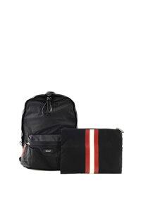 韩际新世界网上免税店-巴利-男士箱包-FLAIRE/00_1 BLACK 双肩包
