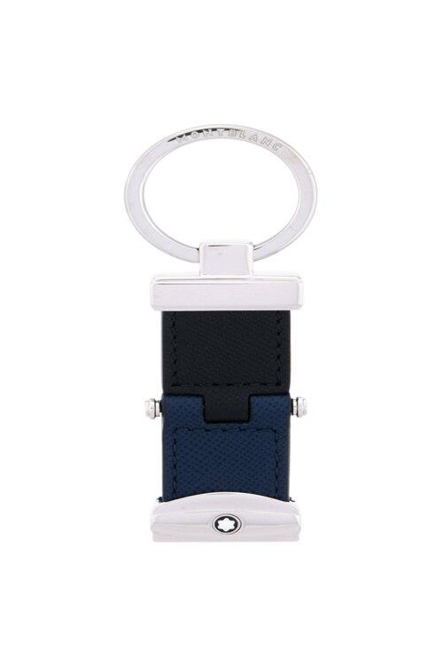 韩际新世界网上免税店-万宝龙-钱包-万宝龙匠心系列带转轴的钥匙扣 黑色+靛蓝色