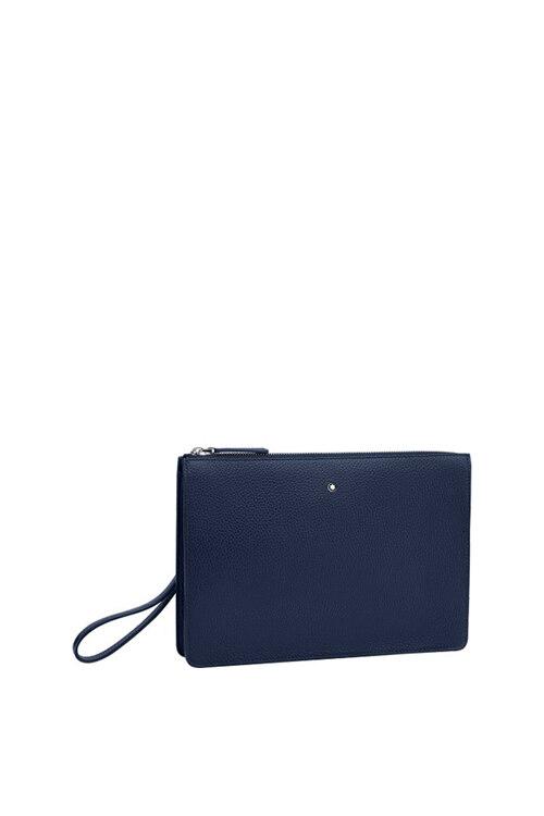 韩际新世界网上免税店-万宝龙-女士箱包-U0126052(大班软皮粒纹系列双隔层手袋  #Blue)