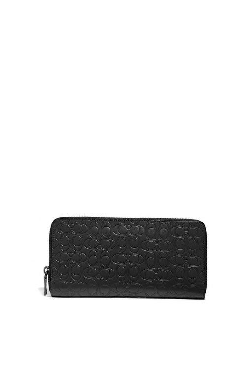韩际新世界网上免税店-寇驰-钱包-66864 BLK-20SS /Travel Wallet In Signature Leather 护照夹