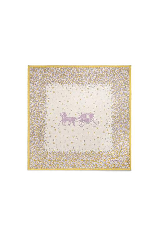 韩际新世界网上免税店-寇驰-时尚配饰-89767 PUA  ONE-20SS /horseandCarriageOversizedSquare 丝巾