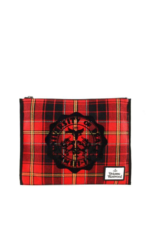 韩际新世界网上免税店-维维安.韦斯特伍德-女士箱包-ELENA POUCH RED/BLACK 手拿包