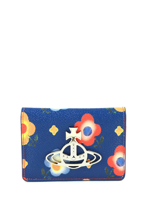 韩际新世界网上免税店-维维安.韦斯特伍德-钱包-ANNIE SMALL CREDIT CARDBLUE ANDREAS FLOWERS 卡包