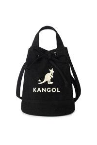韩际新世界网上免税店-KANGOL-休闲箱包-TB3738BKOS Alice Canvas Bucket Bag 手提包 3738 BLACK