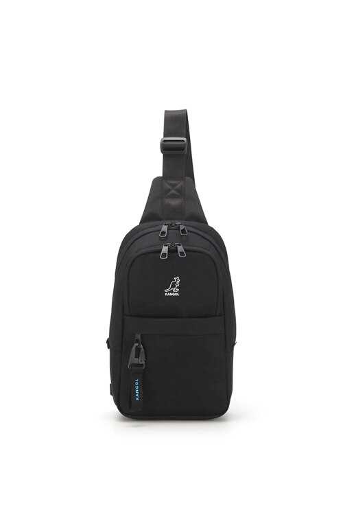 韩际新世界网上免税店-KANGOL-休闲箱包-SL1253BKOS Keeper VI Sling Bag large 胸包 1253 BLACK