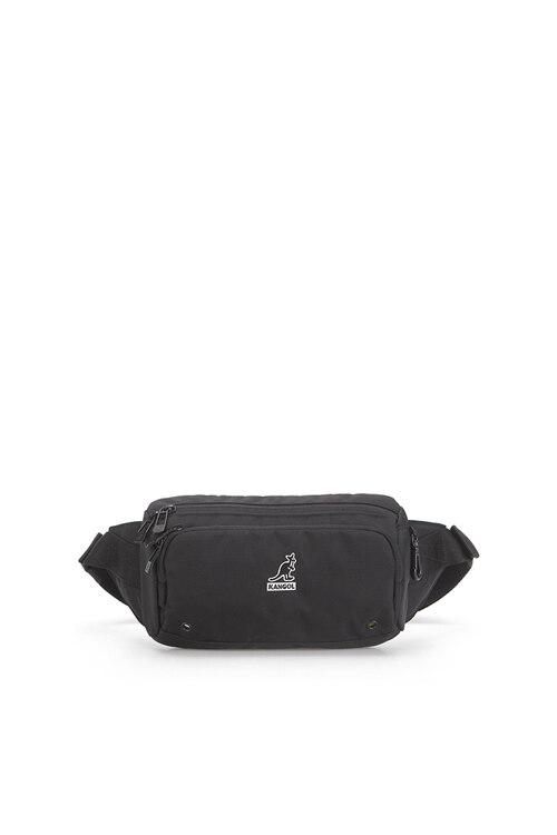 韩际新世界网上免税店-KANGOL-休闲箱包-Keeper V Sling Bag 1215 BLACK 腰包