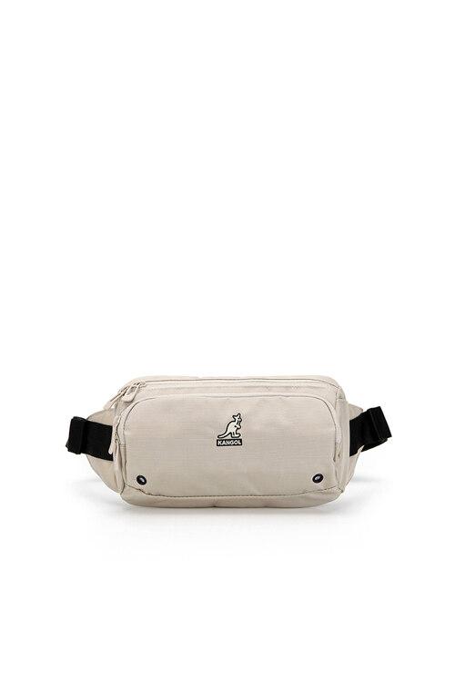 韩际新世界网上免税店-KANGOL-休闲箱包-Keeper V Sling Bag 1215 ECRU 腰包