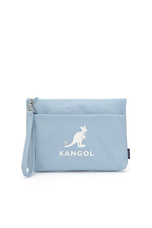 韩际新世界网上免税店-KANGOL-女士箱包-Dual Canvas Clutch Bag 5035 LT.BLUE 手拿包