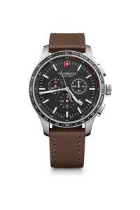 韩际新世界网上免税店-VICTORINOX WAT-手表-Alliance Sport Chronograph Black Dial Brown Leather Strap Watch 手表