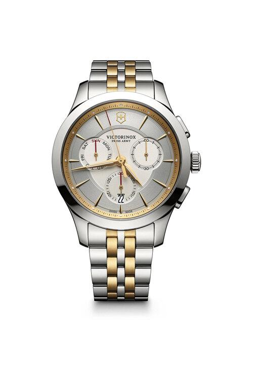 韩际新世界网上免税店-VICTORINOX WAT-手表-Alliance Chronograph Silver 2 tones Watch 手表(男款)