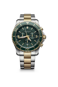 韩际新世界网上免税店-VICTORINOX WAT-手表-Maverick Chronograph Green 2-tone Watch 手表(男款)