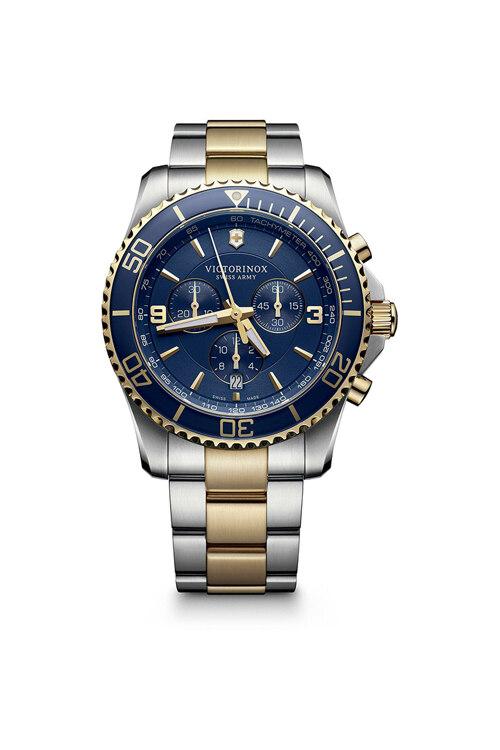 韩际新世界网上免税店-VICTORINOX WAT-手表-Maverick Chronograph Blue 2-tone Watch 手表(男款)