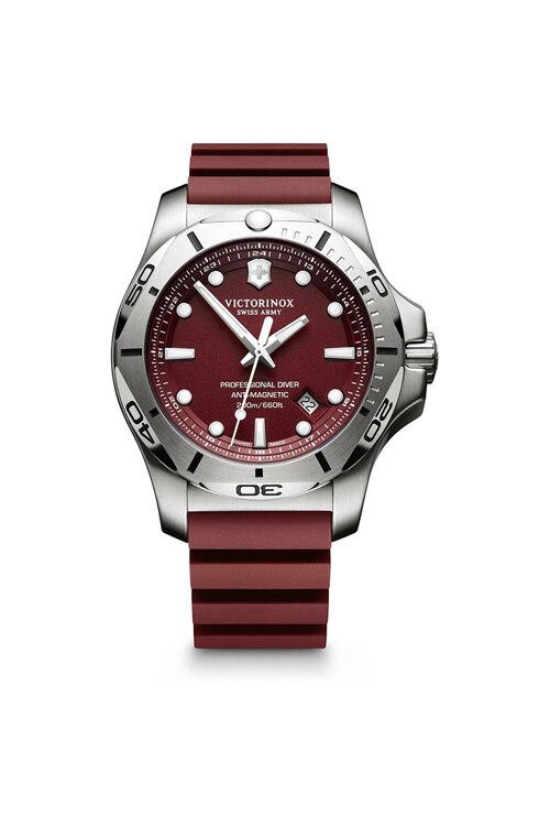 韩际新世界网上免税店-VICTORINOX WAT-手表-I.N.O.X. Professional Diver Red Dial Red Rubber Strap Watch 手表