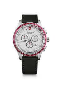 韩际新世界网上免税店-VICTORINOX WAT-手表-Alliance Sport Chronograph White Dial Black Leather Strap Watch 手表