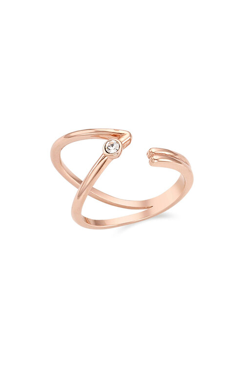 韩际新世界网上免税店-CARLA NOGUERES-首饰-Curved Double Line Open Ring 戒指