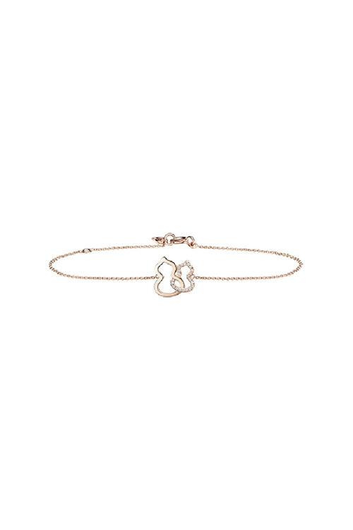 韩际新世界网上免税店-QEELIN-首饰-Wulu 18K rose gold bracelet with diamonds 手链