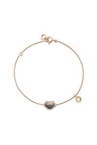 韩际新世界网上免税店-QEELIN-首饰-Yu Yi 18K rose gold bracelet with diamonds & onyx 手链