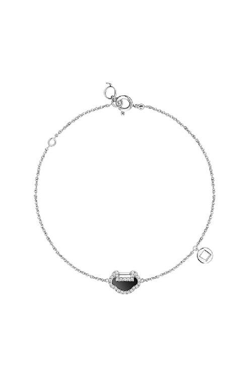 신세계인터넷면세점-키린--Yu Yi 18K white gold bracelet with diamonds & onyx