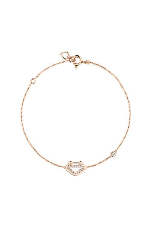 韩际新世界网上免税店-QEELIN-首饰-Yu Yi 18K rose gold bracelet with diamonds 手链