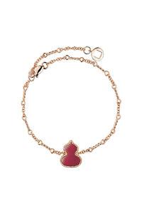 韩际新世界网上免税店-QEELIN-首饰-Wulu bracelet in 18K rose gold with red agate 手链