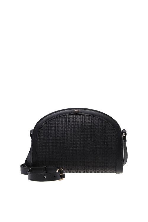韩际新世界网上免税店-A.P.C-女士箱包-PXBNJ-F61048_LZZ HALF MOON TRESSE BAG BLACK
