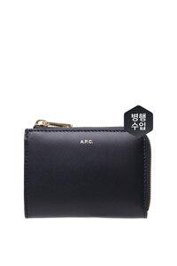 韩际新世界网上免税店-A.P.C-钱包-PXAWV-F63166_IAK LISE COMPACT WALLET DARK NAVY
