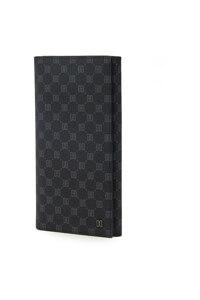 신세계인터넷면세점-닥스-지갑-DBWA1E121BK 블랙 가죽 로고 DD 패턴 장지갑