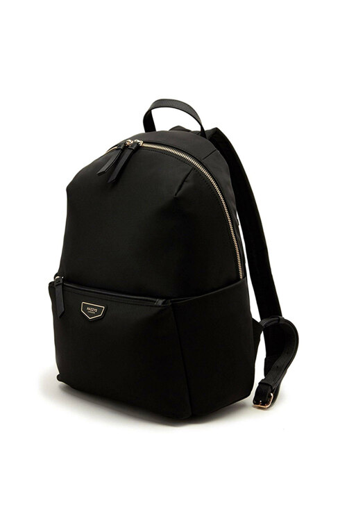 신세계인터넷면세점-헤지스-여성 가방-HIBA1E304BK 블랙 로고 가죽배색 나일론 라운드 백팩