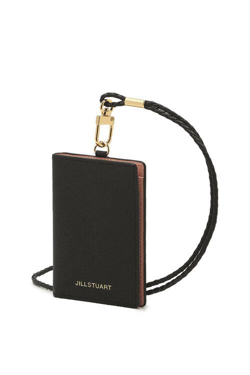 신세계인터넷면세점-질 스튜어트(패션)-지갑-JAHO1E000BK 블랙 가죽 내부 배색 목걸이형 카드홀더