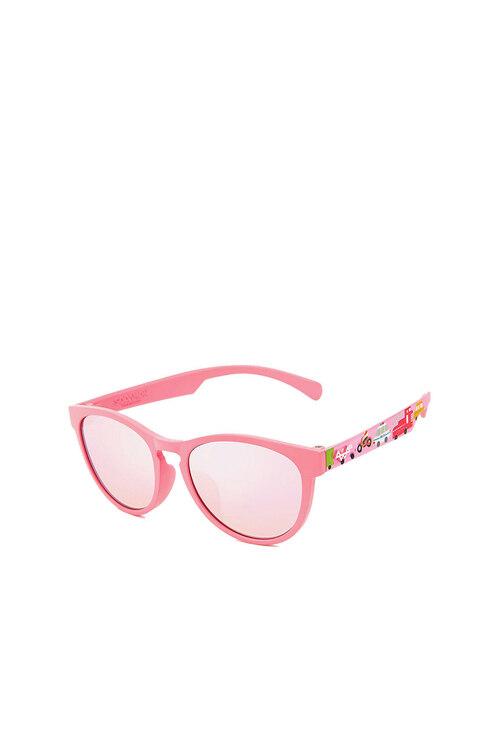韩际新世界网上免税店-SODAMON (EYE)-太阳镜眼镜-KD5002-C04  儿童太阳镜 Pink+Pink Pattern Rosepink Mirror Lens