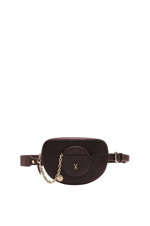 韩际新世界网上免税店-JOSEPH&STACEY-女士箱包-OZ Mini Belt Bag CABERNET WINE(GOLD) 腰包