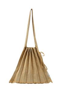 韩际新世界网上免税店-JOSEPH&STACEY-女士箱包-Lucky Pleats Knit M Starry_STARRY GOLD 单肩包