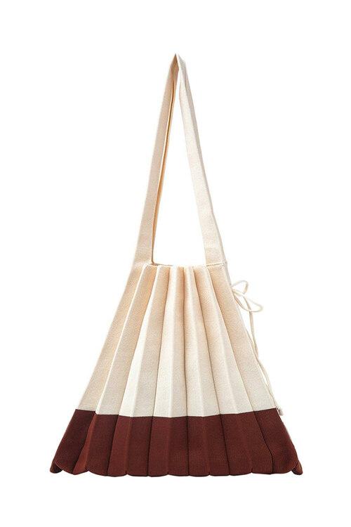 韩际新世界网上免税店-JOSEPH&STACEY-女士箱包-Lucky Pleats Knit M Mix Naked Chestnut 单肩包